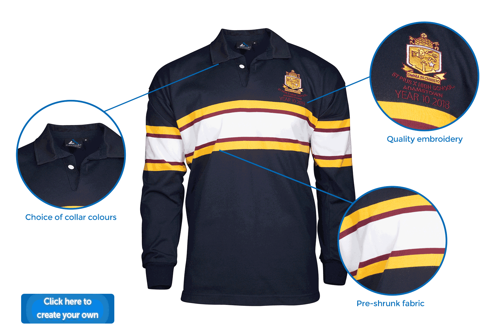 Design Your Own Rugby Polo Shirt – EDGE Engineering and